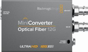 Blackmagic Mini Converter Optical Fiber 12G + SFP 6G Kit